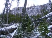 Snowy hike up to Sepulcher Mountain