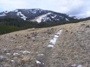 Sepulcher Mountain above its namesake trail in Yellowstone National Park