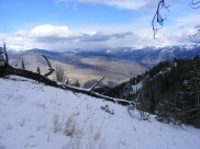 Hiking up Sepulcher Mountain, looking out at the southwest corner of the Absaroka Mountains