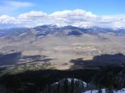 The Absaroka Mountain as seen from Sepulcher Mountain in the Gallatin Range