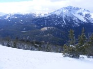 Looking out from Sepulcher Mountain towards Electric Peak and the Gallatin Range