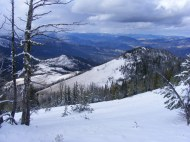 Looking out from Sepulcher Mountain