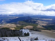 Looking east from Sepulcher Mountain in Yellowstone National Park