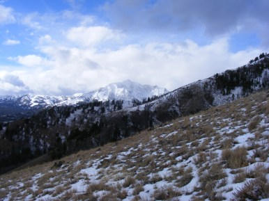 On the southern slope of Sepulcher Mountain, looking west at Electric Peak