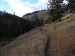 The Sportsman Lake Trail, just above Gardner's Hole