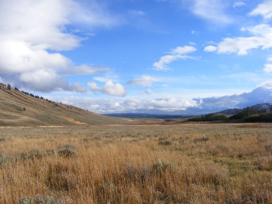A fine Autumn day in Gardner's Hole, Yellowstone National Park