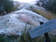 Narrow Gauge Terrace in Upper Mammoth Terraces in Yellowstone National Park
