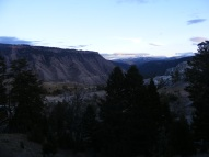 Evening light above Mount Everts
