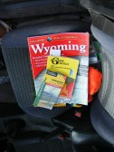 My guide books while gallivanting around Yellowstone National Park