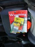 My guide books while gallivanting around Yellowstone National Park