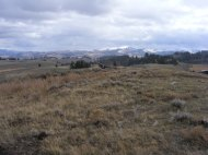 Looking south across Mount Everts at Mount Washburn