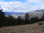 Looking down towards the confluence of the Yellowstone and Gardner Rivers from the north slope of Mount Everts