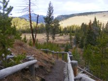 On the Wraith Falls Trail, looking at Sepulcher Mountain