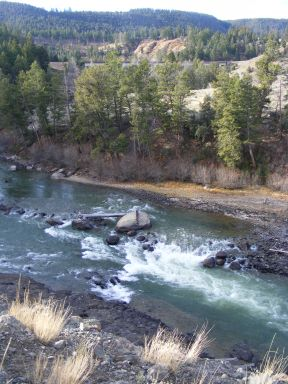 Rapids on the Yellowstone River, in the national park, to the west of Junction Butte