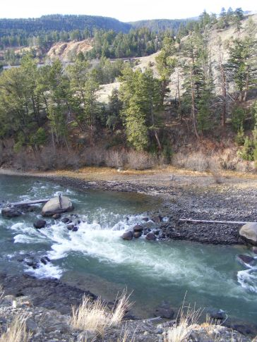 The Yellowstone River in low water
