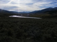 The Lamar River in the valley of the same name, Yellowstone National Park, Wyoming