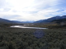 Absaroka Range rising above the Lamar Valley of Yellowstone National Park