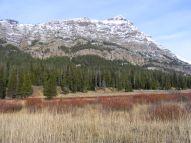 Looking across Soda Butte Creek at Barronette Peak