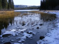 The western end of Kersey Lake in Montana