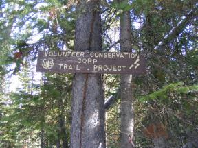 Sign on Russell Creek Trail No. 3 in the Gallatin National Forest