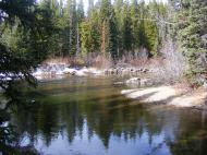 The Clark's Fork of the Yellowstone River just below the confluence with Fisher Creek in Montana