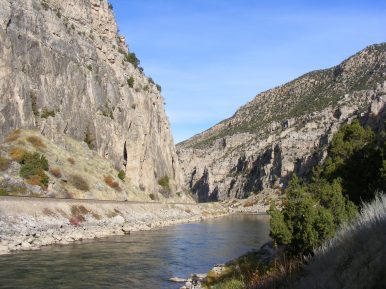Wind River Canyon, looking downstream