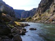 Wind River Canyon, looking upstream