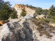 Sandstone outcropping near Castle Gardens, Wyoming