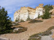 Colorful outcroppings in Castle Gardens
