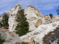 Colorful rock and odd erosion in Castle Gardens