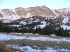 On Wyoming 130, the view of the Snowy Range