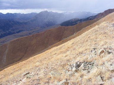 The East River valley and beyond, in the Elk Mountains