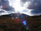 Sun above Mount Crested Butte