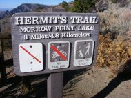Signage at the Hermit's Rest Trail in Curecanti National Recreation Area