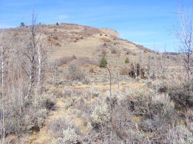 A knob of Black Mesa, above the Hermit's Rest Trailhead