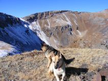Draco and Leah above Lamphier Creek on the ridge that divides it from Mill Creek