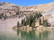 Mill Lake below Fossil Mountain