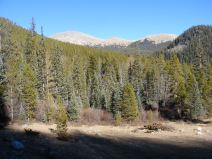 Looking at Fairview Peak from the Gold Creek Trailhead