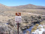 Bureau of Land Management Road 3107 on Cabin Creek