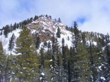 Rocky outcropping above Quartz Creek