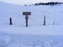 The Winter trailhead on Long Branch and beginning of Gunnison National Forest Road 780