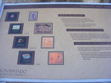 Informational signage about pictographs at the Waving Hands Site