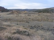 Rolling sagebrush flats in Disappointment Draw