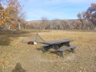 My tent in Deerlogde Park Campground