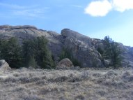 Granite outcropping seen from the Agate Flats Road