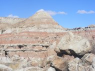 Clearly delineated strata at Gooseberry Creek Badlands