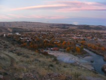Thermopolis, Wyoming, in the early morning