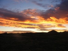 Sunrise, entrancing my being, on Monument Hill in Hot Springs State Park of Wyoming