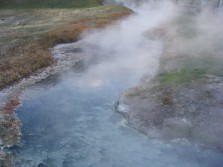 Hot waters emitting from Big Spring