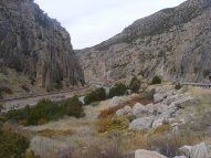 Looking down the Wind River Canyon